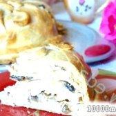 Кулінарний рецепт курник із млинців з рисом і грибами з фото