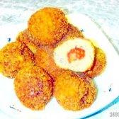 Кулінарний рецепт м'ясні кульки з помідорами чері з фото