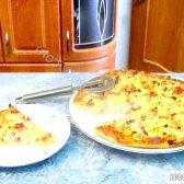 Кулінарний рецепт оззи-піца з ковбасою та сиром з фото