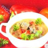 Кулінарний рецепт паприкаш з телятиною з фото