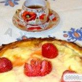 Кулінарний рецепт пиріг з вишнею та сиром з фото