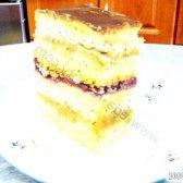 Кулінарний рецепт пляцок вишневий з безе і шоколадом з фото