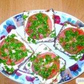 Кулінарний рецепт помидорки з часником з фото