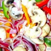 Кулінарний рецепт пісний салат з печерицями з фото