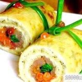 Кулінарний рецепт рулетики із млинців з фото