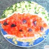 Кулінарний рецепт салат кавунова часточка з фото