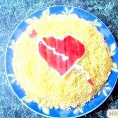 """Кулінарний рецепт салат """"для закоханих"""" з фото"""