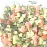 Кулінарний рецепт салат з огірків і помідорів з фото