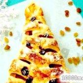Кулінарний рецепт слойка з яблуками ялинка з фото