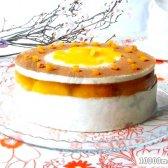 """Кулінарний рецепт торт """"ніжний персик"""" з фото"""