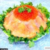 """Кулінарний рецепт торт рибний """"на вершині олімпу"""" з фото"""