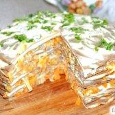 Кулінарний рецепт тортик з курячої печінки з фото