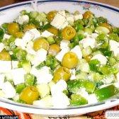 Кулінарний рецепт зелений грецький салат з фото