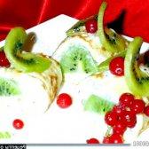 """Рецепт фаршировані млинчики """"солодка зелень"""" з фото"""