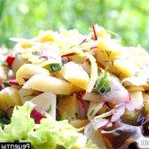Рецепт картопляний салат з редискою і зеленню з фото