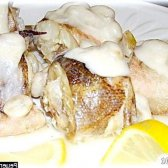 Рецепт креветочная риба конгріо з родзинкою з фото