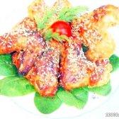 Рецепт курячі крильця в меду з гірчицею, часником і соєвим соусом з фото