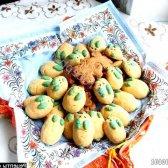Рецепт печиво домашнє пісочне зайчата з кокосовою стружкою з фото