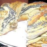 Рецепт плетінка з дріжджового тіста з горіховою і макової начинками з фото