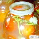 Рецепт помідори з гірчицею холодним способом з фото