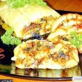 Рецепт пісний картопляний рулет з грибами і овочами з фото