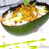 Рецепт рисово-овочевий салат з соусом з авокадо з фото