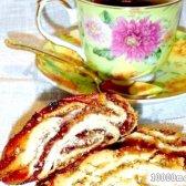 Рецепт рулет з холодного дріжджового тіста з фото