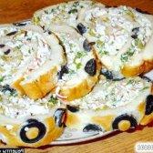 Рецепт рулет з креветками з заварного тіста з фото