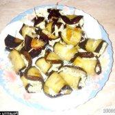 Рецепт рулетики з баклажанів з сиром і часником з фото