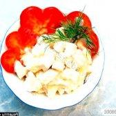 Рецепт салат з курки з консервованим ананасом з фото
