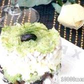 """Рецепт салат з куркою, огірком, чорносливом а-ля """"меркурій"""" з фото"""