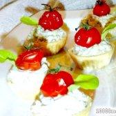 Рецепт закусочні тарталетки з сирним сиром з фото