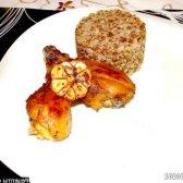 Рецепт запечені курячі ніжки в медово-гірчичною глазурі з часником з фото