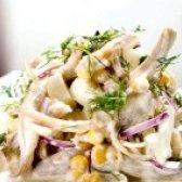 Як приготувати курячий салат з кольрабі - рецепт