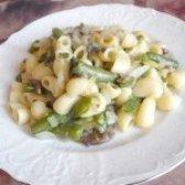 Як приготувати пісні макарони зі стручкової квасолею та грибами - рецепт