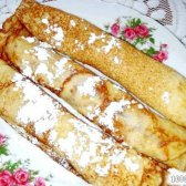 Кулінарний рецепт яблучні млинці з родзинками з фото