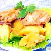 Кулінарний рецепт курка з картоплею в мультиварці з фото