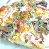 Кулінарний рецепт піца з грибами і м'ясом з фото