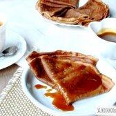 Кулінарний рецепт шоколадні млинці з какао з фото