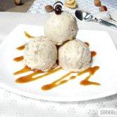 Рецепт бананове морозиво з шоколадно-горіховою крихтою з фото
