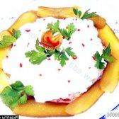 Рецепт закуска зі свинини під вершковим соусом з фото